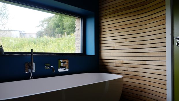 The bathroom of the Co Down 'long house' that featured on the C4 show 'Grand Designs'.