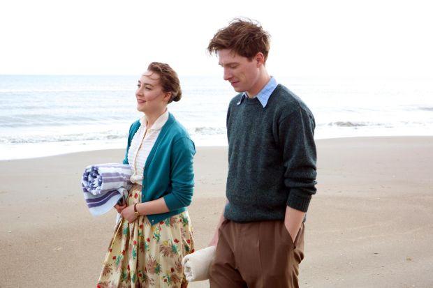 Saoirse Ronan and Domhnall Gleeson, in 'Brooklyn'. Courtesy of Mongrel Media. Photograph: Kerry Brown