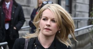 Broadcaster Claire Byrne pictured at the Four Courts on Wednesday. Photograph: Collins Courts.