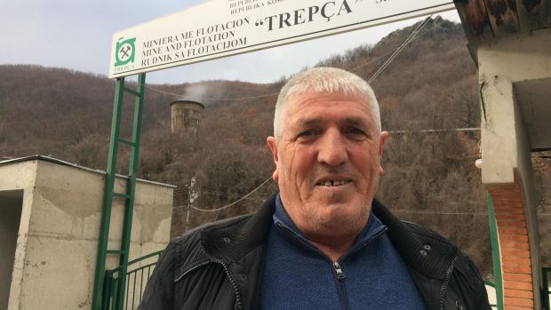 Adem Zeka, outside the vast Trepca metals mine in Mitrovica. Photograph: Daniel McLaughlin
