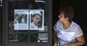 August 28th, 2017: posters appealing for witnesses  to the disappearance of  Maelys de Araujo (9). Photograph: Philippe Desmazes/AFP/Getty Images