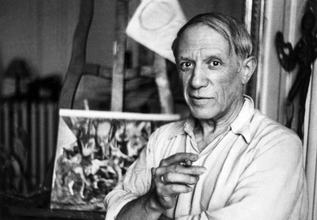 Pablo Picasso in his Paris studio. Photograph: Getty Images