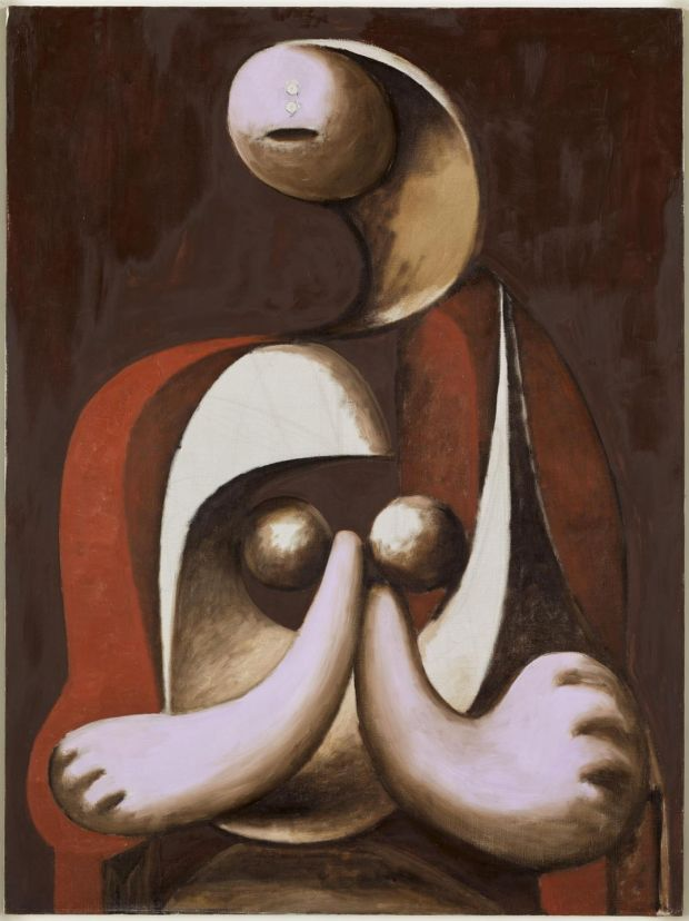 Woman Sitting in a Red Armchair, Musée national Picasso, Paris