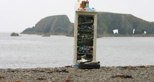 A Coastwatch volunteer collected this waste in one outing on a small stretch of coastline between Garrarus beach and Kilfarrasy Beach on the Co Waterford coastline. The haul includes a fridge and many plastic bottles.