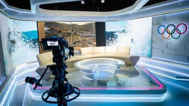 Inside Discovery's Olympic studio in Pyeongchang. Photograph: Discovery Communications / Reuters