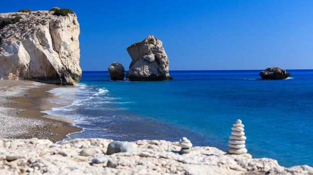 Cyprus is back with its great selection of four and five star hotels. This is the famous Aphrodite's Rock.