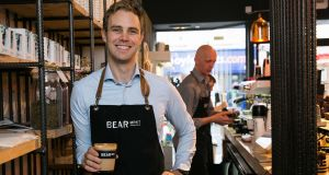 Stephen Deasy, who founded Bear Market Coffee with his wife, Ruth.