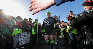 Tadhg Furlong ran at '75 per cent' in Athlone on Thursday, according to Ireland coach Joe Schmidt. Photograph: Billy Stickland/Inpho