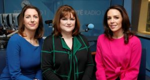 Late Debate: Katie Hannon, Fionnuala Sweeney and Sarah McInerney are the new hosts of the RTÉ Radio 1 show Katie Hannon, Fionnuala Sweeney and Sarah McInerney are the new hosts of the Late Debate on RTÉ Radio 1. Photograph: RTÉ
