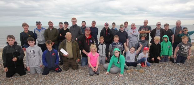Members of Killinarden AC on Arklow's south beach, as part of the Dublin Angling Initiative programme