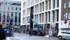 Work in progress on Molesworth Street, Dublin 2 .Photograph: Cyril Byrne/The Irish Times