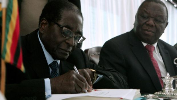 Zimbabwe president sees deceased opposition leader's family