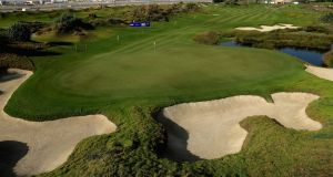 The tenth hole at Al Mouj Golf in Muscat, Oman. Photograph: Andrew Redington/Getty Images