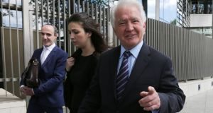 Former Anglo Irish Bank chairman Sean Fitzpatrick. Shane Ross said he had never suggested Mr FitzPatrick should be Central Bank governor. File photograph: Collins Courts