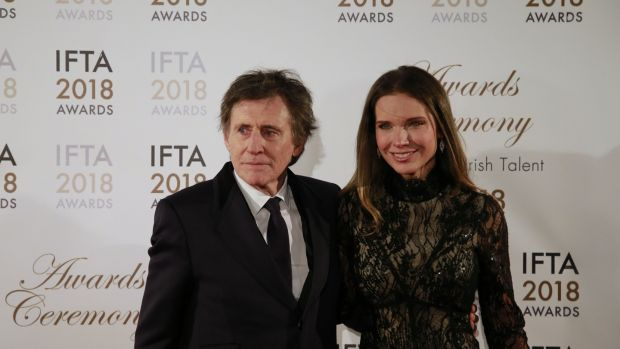 Gabriel Byrne and wife Hannah Beth King at the Ifta awards on Thursday in Dublin's Mansion House. Photograph: Nick Bradshaw