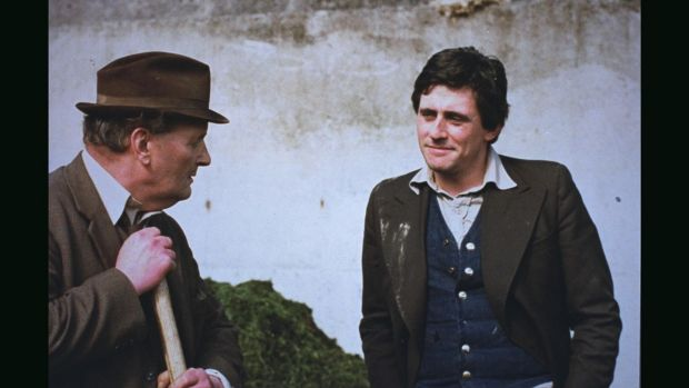 Gabriel Byrne as Pat Barry, with John Cowley in a scene from 'The Riordans'