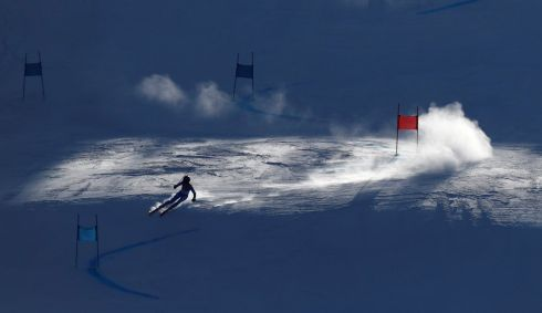 WINTER OLYMPICS: Manuela Moelgg of Italy competes in Alpine skiing at the Yongpyong Alpine Centre. Photograph: Jorge Silva/Reuters