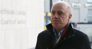 Anglo Irish trial: David Drumm denies conspiracy to defraud and false accounting. Photograph: Collins Courts