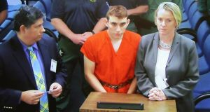 Nikolas Cruz during an appearance on Thursday in Fort Lauderdale, Florida. Photograph: Susan Stocker/Getty Images