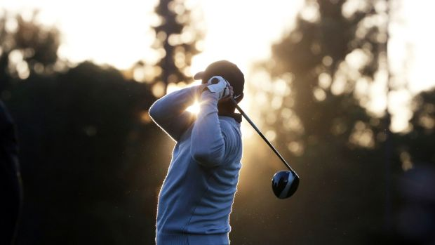 Tiger Woods had a mixed first round in the Pacific Palisades neighbourhood of Los Angeles on Thursday. Photograph: PA