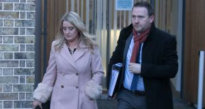 Róisín and  Mark Molloy who lost their son Mark Molloy leaving a fitness to practice hearing at the Medical Council.  File photograph: Gareth Chaney/Collins