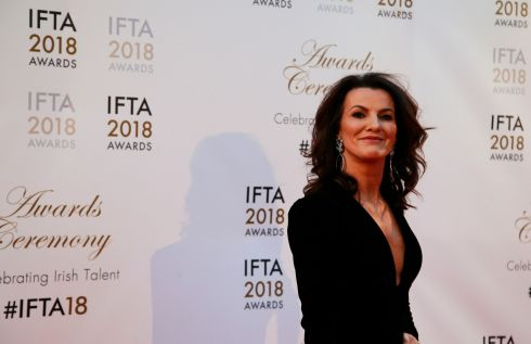 Deirdre O'Kane arriving at the awards. Photograph: Nick Bradshaw