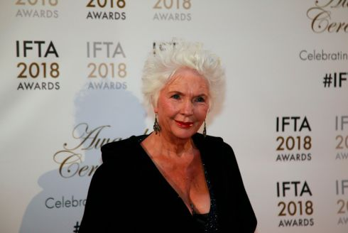Fionnula Flanagan was one of the many actors to wear black at the Ifta awards in support of the #MeToo campaign. Photograph: Nick Bradshaw