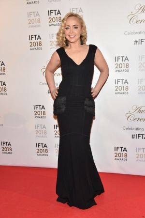 Angeline Ball arriving at the 2018 Iftas. Photograph: Michael Chester