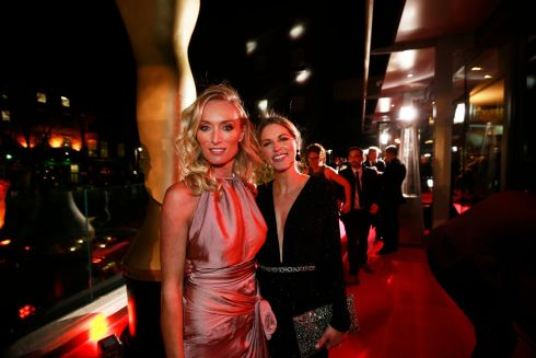 Victoria Smurfit and Amy Huberman at the awards.  Photograph: Nick Bradshaw