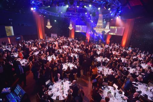 The large crowd gathered for the Ifta awards 2018 at the Mansion House, Dublin. Photograph: Michael Chester.
