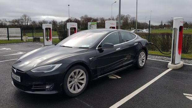 The supercharger stations are on the main motorway networks of Europe