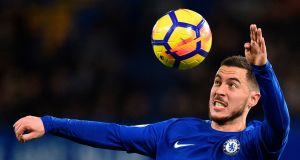 Eden Hazard: The Chelsea star  turned 27 last month and  is approaching his prime but  time is running out for him to claim football's the biggest prizes. Photograph: Glyn Kirk/AFP