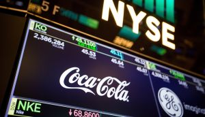 Coca-Cola strengthened on the back of tea, coffee and vitamin water sales. Photograph: Bloomberg