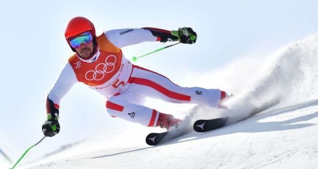 Austria's Marcel Hirschel makes it double gold with giant