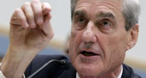 Special counsel Robert Mueller, who is leading the investigation into alleged Russian interference in the 2016 US presidential election. Photograph: Yuri Gripas/Reuters