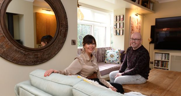 Writer john boyne and his interior designer caroline flannery in his rathfarnham home photograph