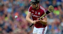Joseph Cooney: scored both goals for Galway in the win over Offaly at Pearse Stadium. Photograph: James Crombie/Inpho