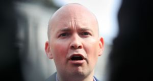 Solidarity TD Paul Murphy claimed Taoiseach Leo Varadkar had defamed him when he accused him of thuggery during a Dáil debate on the Jobstown anti-water charges protest.  Photograph: Gareth Chaney/Collins