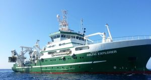 The new vessel will be a sister ship to the State's largest research ship, the 65m Celtic Explorer (pictured), which cost €23 million when it was sanctioned in 2000