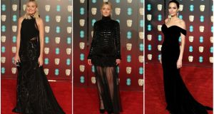 Baftas in black: Margot Robbie, Saoirse Ronan and Angelina Jolie