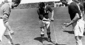 Christy Ring gets ready to rumble for Cork against Limerick in 1946