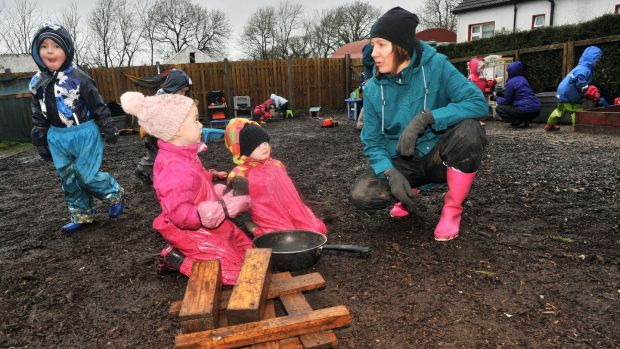 Miina Murphy of the Kildinan Pre-school, based on her family farm in Kildinan, Co Cork. Photograph: Daragh Mc Sweeney/Provision