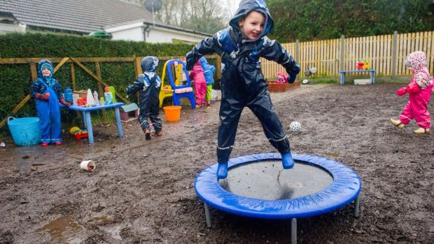 Pre-school on Miina Murphy's family farm in Kildinan, Co Cork. Photograph: Daragh Mc Sweeney/Provision