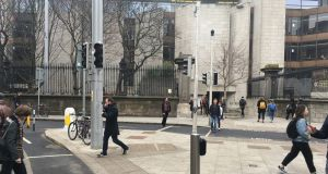 Traffic lights out in Dublin city centre due to a power outage. Photograph: Dominick Coyle/The Irish Times