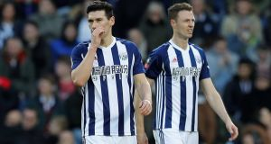 Gareth Barry and Jonny Evans were two of the four West Brom players that allegedly stole a taxi in Barcelona  last week. The taxi driver will not press charges. Photograph:     Darren Staples/Reuters