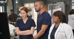 Sarah Drew, Jesse Williams and Chandra Wilson star in an episode of TV medical drama Grey's Anatomy.  File photograph: Mitch Haaseth/Getty Images