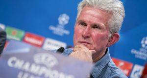 Bayern Munich manager Jupp Heynckes at a press conference ahead of his side's Champions League clash with  Besiktas. Photograph:  Jan Hetfleisch/Bongarts/Getty Images