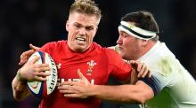 Gareth Anscombe: was denied a perfectly legitimate try against England when it was ruled out by the New Zealand TMO Glenn Newman. Photograph: Glyn Kirk/AFP/Getty