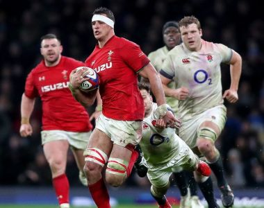 Wales' Aaron Shingler gets away from England's Danny Care  during the 12-6 defeat at Twickenham. Photograph: James Crombie/Inpho
