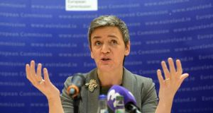 31/01/2017 - FINANCE- Margrethe Vestager, European Commissioner for Competition, at the European Commission Representation to Ireland, Lower Mount Street,  Dublin.Photograph: Dara Mac Dónaill / The Irish Times